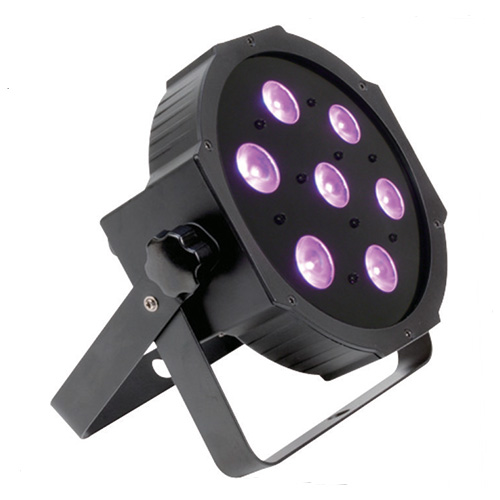 LED PAR 7X12W RGBW 4in1 FLAT DMX